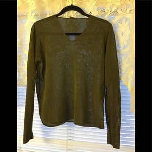Eileen Fisher knitted shiny sheen sweater